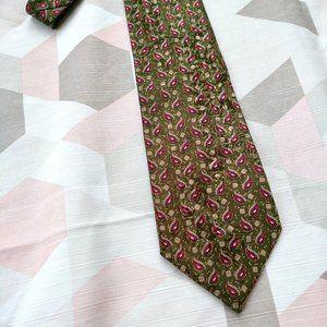 Christian Dior Monsieur Red Green 100% Silk Tie